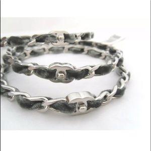 CHANEL Jewelry - NWT!  AUTHENTIC! Chanel Velvet CC Bangle Bracelets